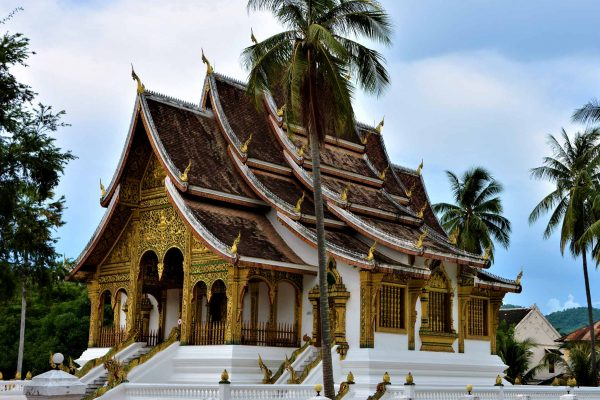 A beautiful golden temple in Luang Prabang, Laos