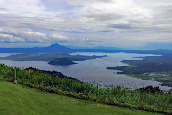 The Taal Volcano is the smallest active volcano in the world. The last eruption was in 1977, but it still rumbles on occasion. Taken from a lookout point in Tagaytay, Luzon, The Philippines.