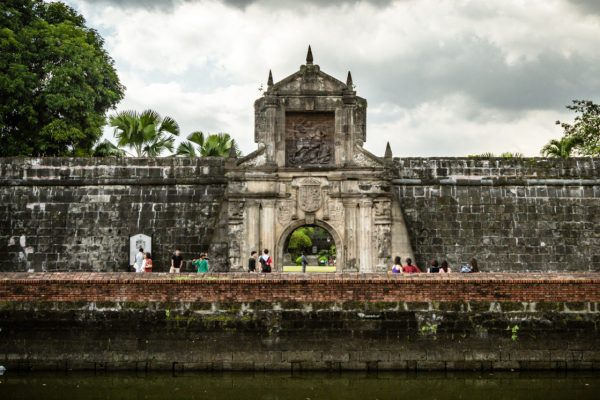 The arched gateway of Fort Santiago in the old walled city of Intramuros, The Philippines